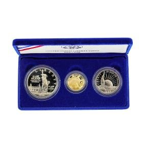 1986 Liberty Proof (3) Coin Commemorative Coin Set