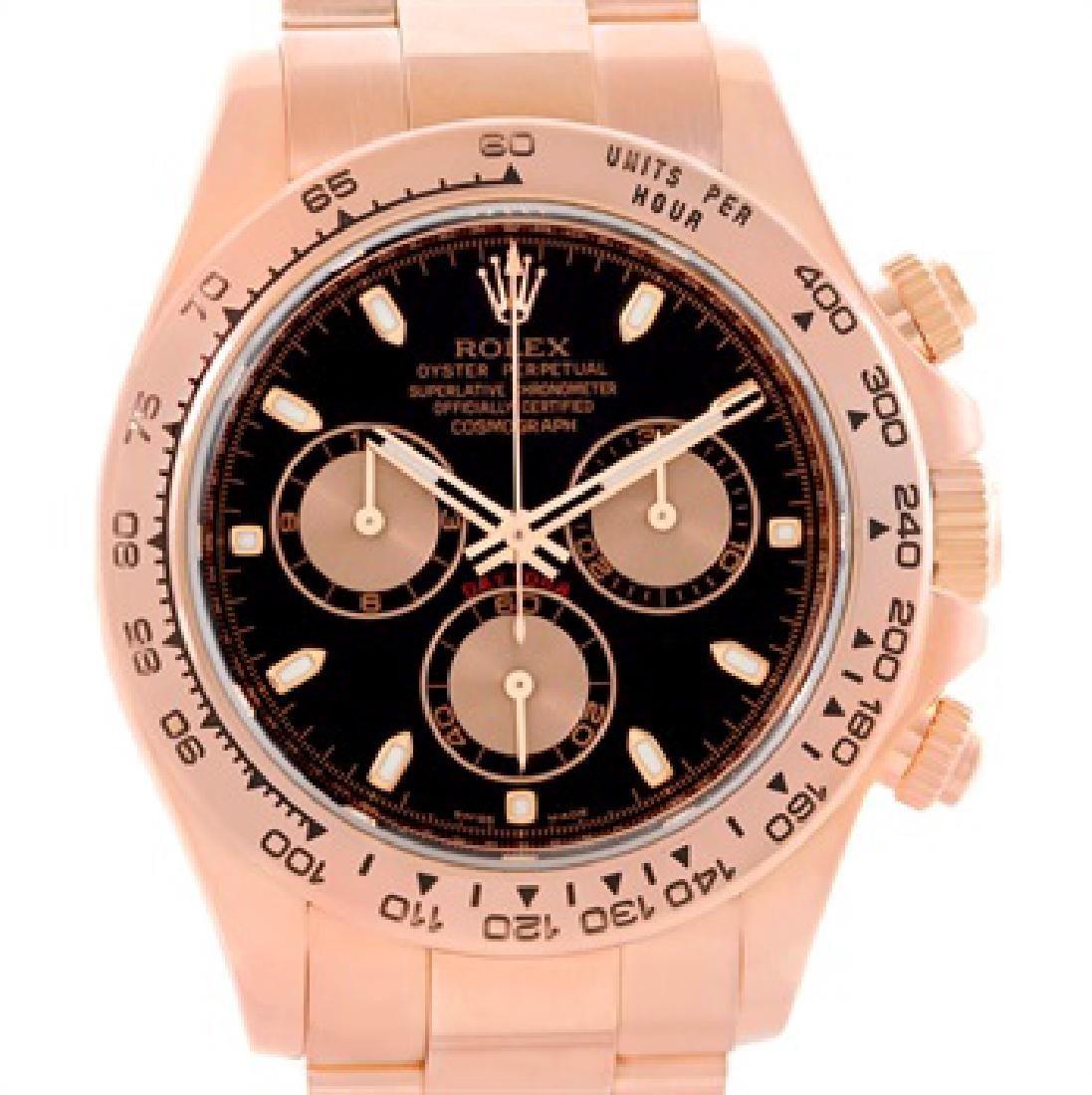 Rolex Cosmograph Daytona 18K Rose Gold Chronograph