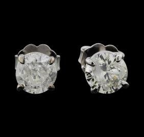 14KT White Gold 1.38ctw Diamond Earrings