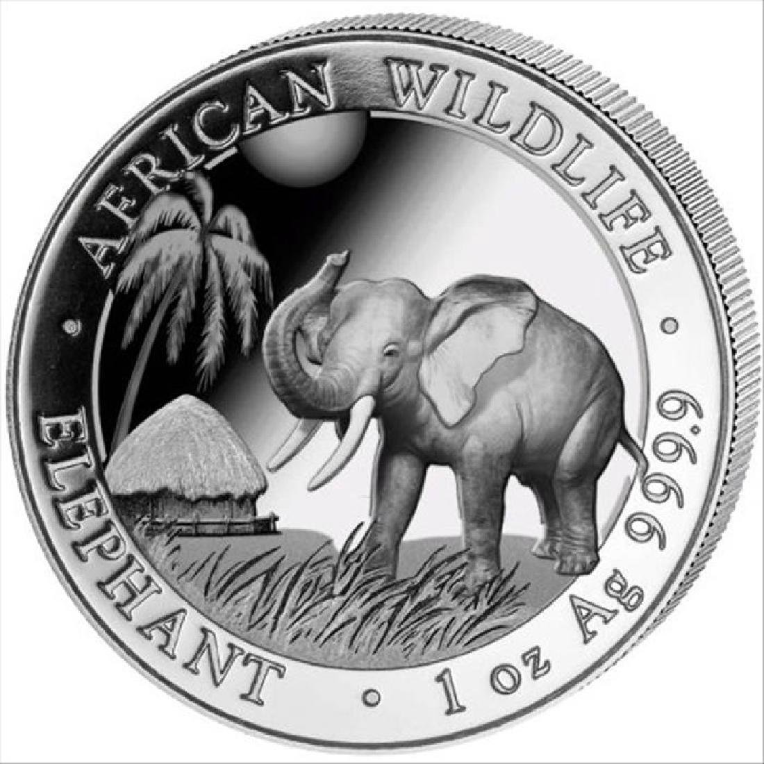 2017 1 oz Somalian Silver Elephant BU Coin