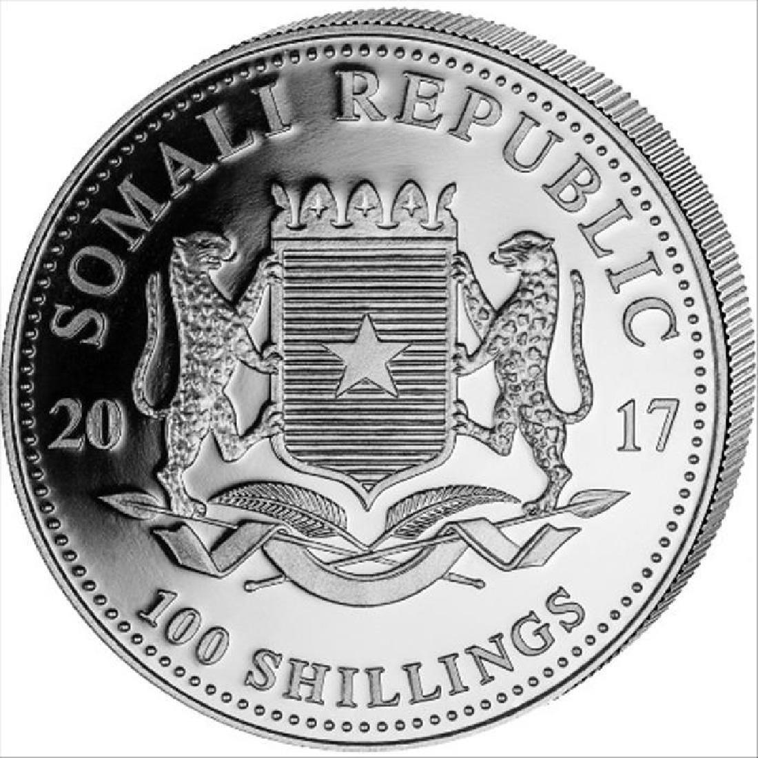 2017 1 oz Somalian Silver Elephant BU Coin - 2