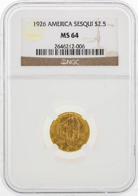 1926 $2 1/2 American Sesquicentennial Gold Coin NGC