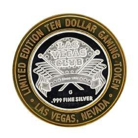 .999 Silver Las Vegas Club $10 Casino Limited Edition