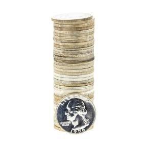 Roll of (20) 1956 Washington Silver Quarters