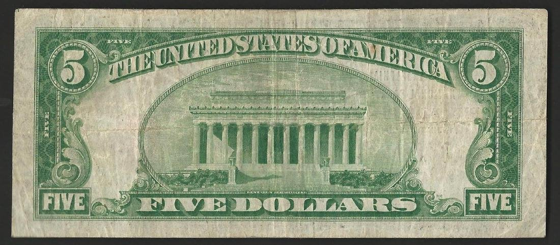 1929 $5 National Bank Note of Philadelphia Pennsylvania - 2