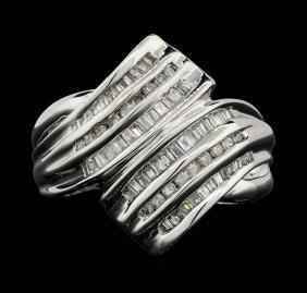 10KT White Gold 0.50ctw Diamond Ring