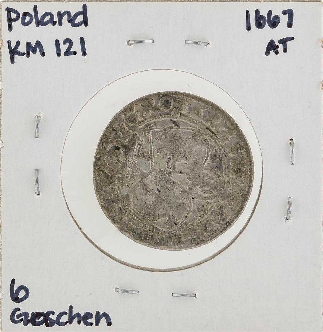 1667 AT Poland KM121 6 Goschen Coin