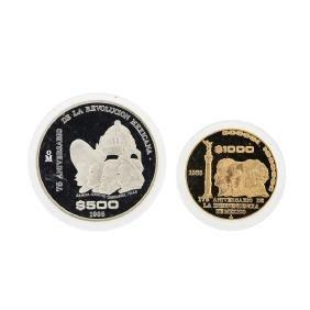 1985 Banco de Mexico Gold & Silver Proof (2) Coin Set