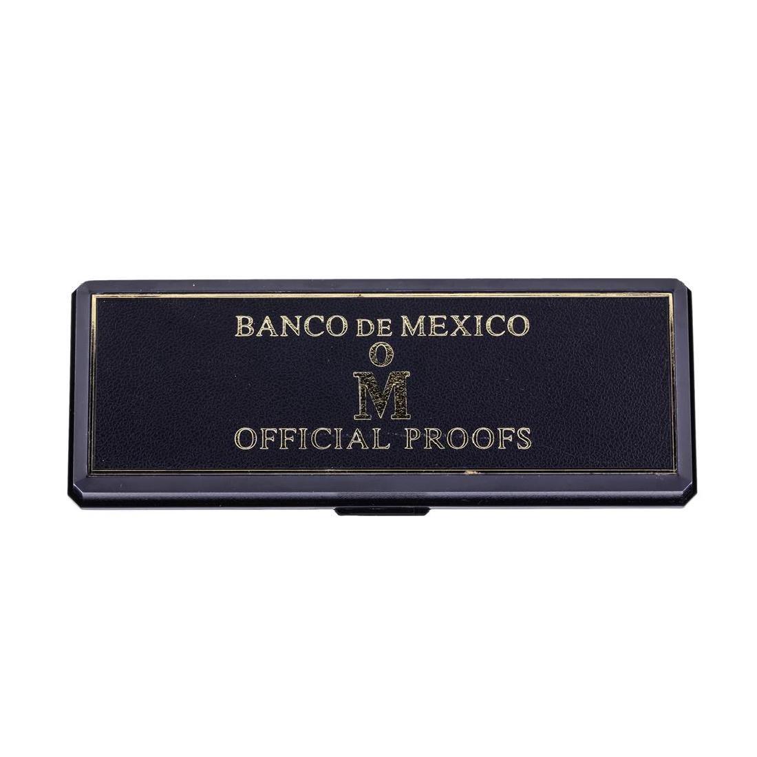 1985 Banco de Mexico Gold & Silver Proof (2) Coin Set - 3