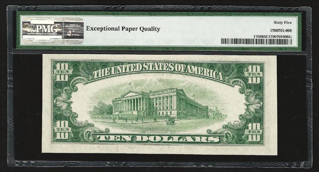 1953B $10 Silver Certificate Note PMG 65EPQ - 2