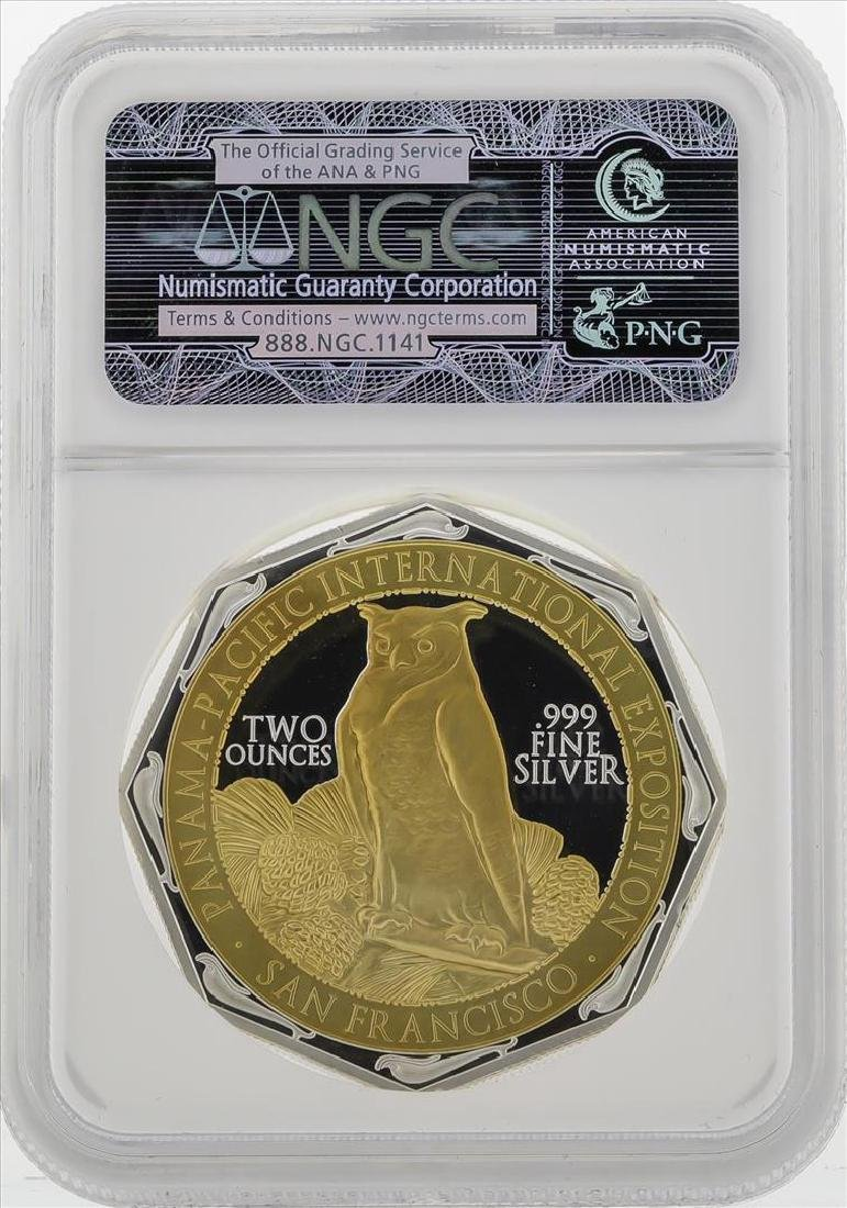 2015 Gilt Niue $2 Panama Pacific Commemorative Coin NGC - 2
