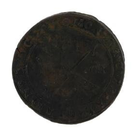 1600s Sweden Medieval Copper Coin