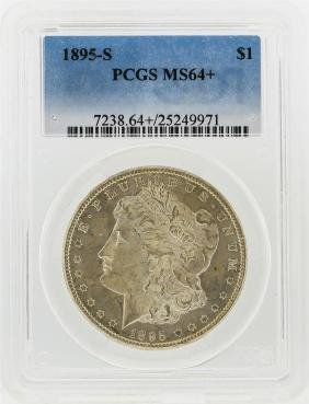 1895-S $1 Morgan Silver Dollar Coin PCGS Graded MS64+