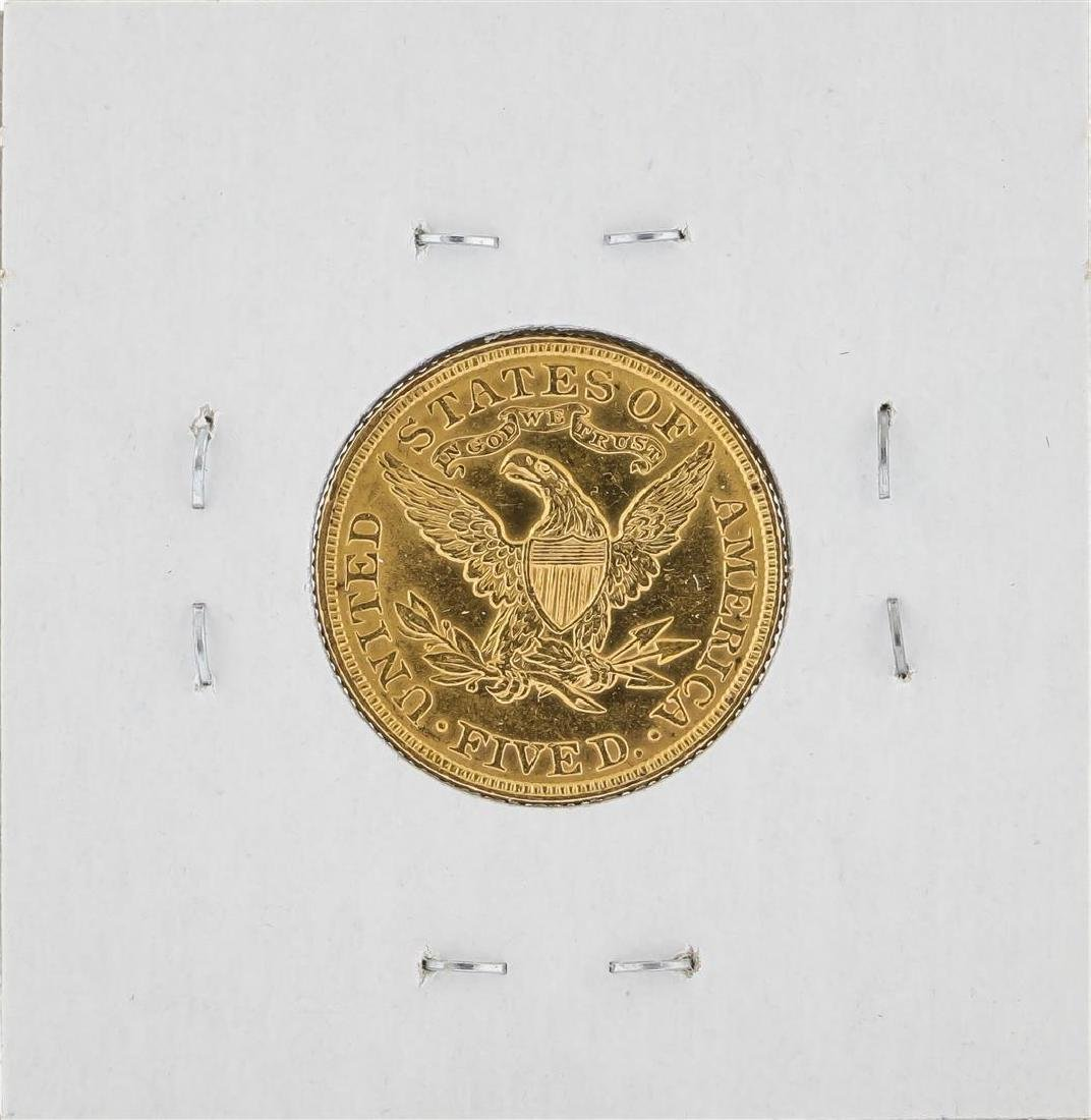 1900 $5 Liberty Head Half Eagle Gold Coin - 2