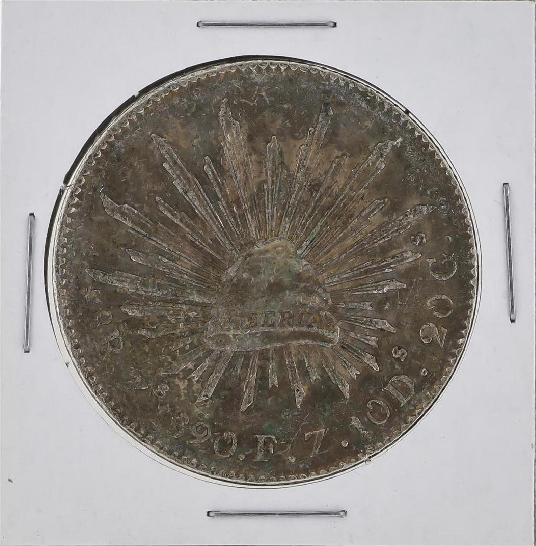 1890 Zs Mexico 8 Reales Silver Coin KM 377.13