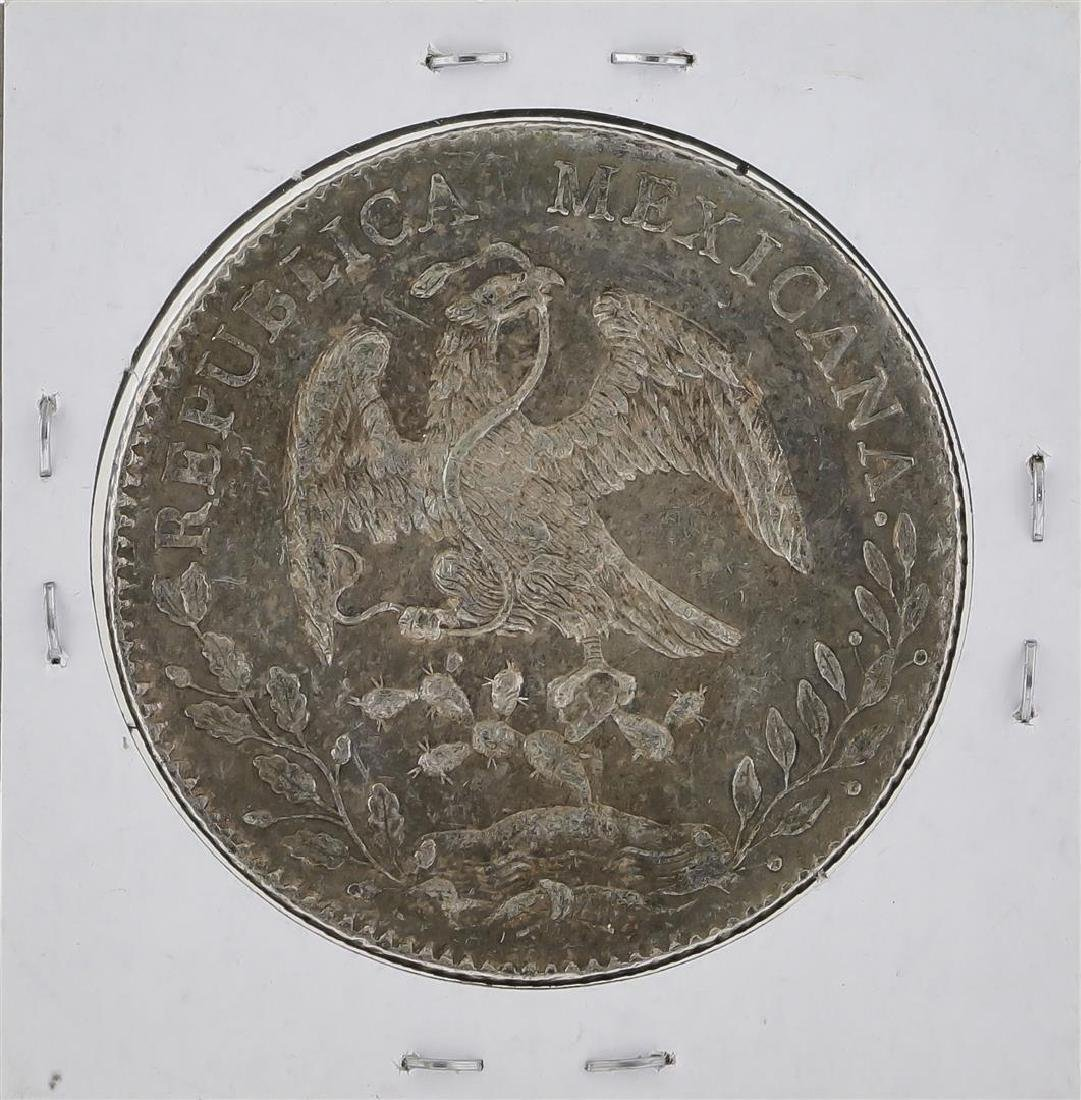 1890 Zs Mexico 8 Reales Silver Coin KM 377.13 - 2