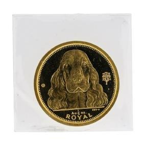 1992 1/5 oz Royal Gibraltar Royal Gold Coin