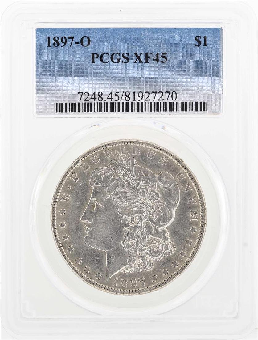 1897-O $1 Morgan Silver Dollar Coin PCGS XF45