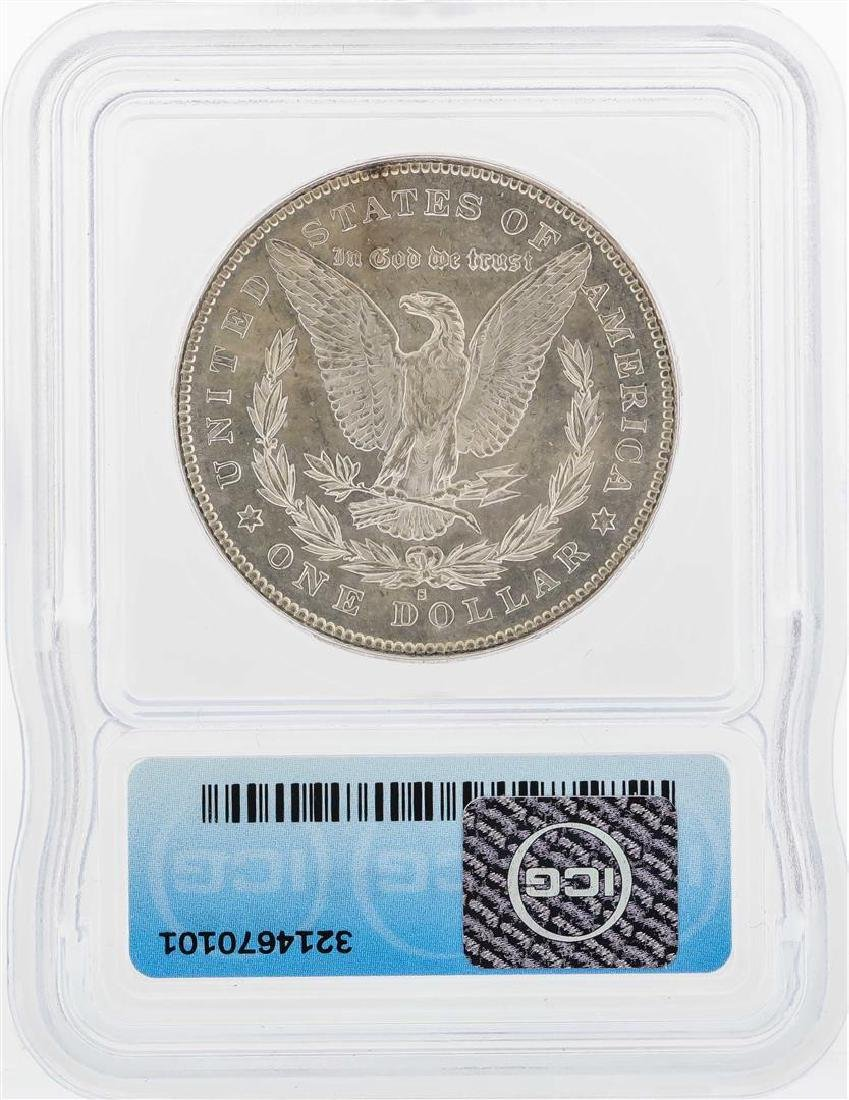 1878-S $1 Morgan Silver Dollar Coin ICG MS63 - 2