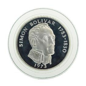 1973 Simon Bolivar Panama 20 Balboas Coin