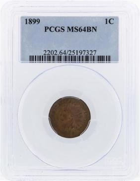 1899 Indian Head Penny PCGS MS64BN