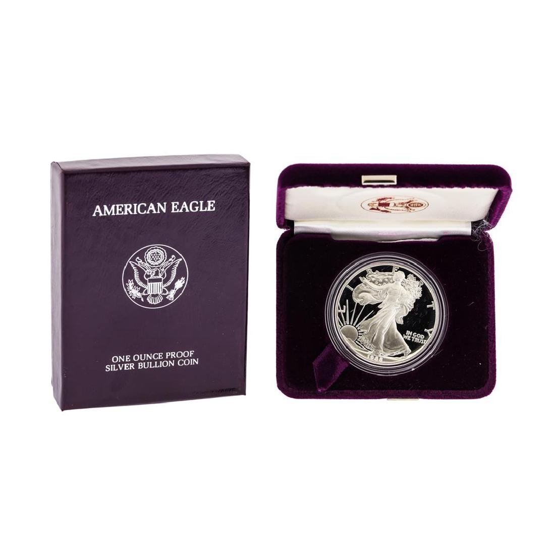 1988 1oz American Silver Eagle Proof Coin with Box