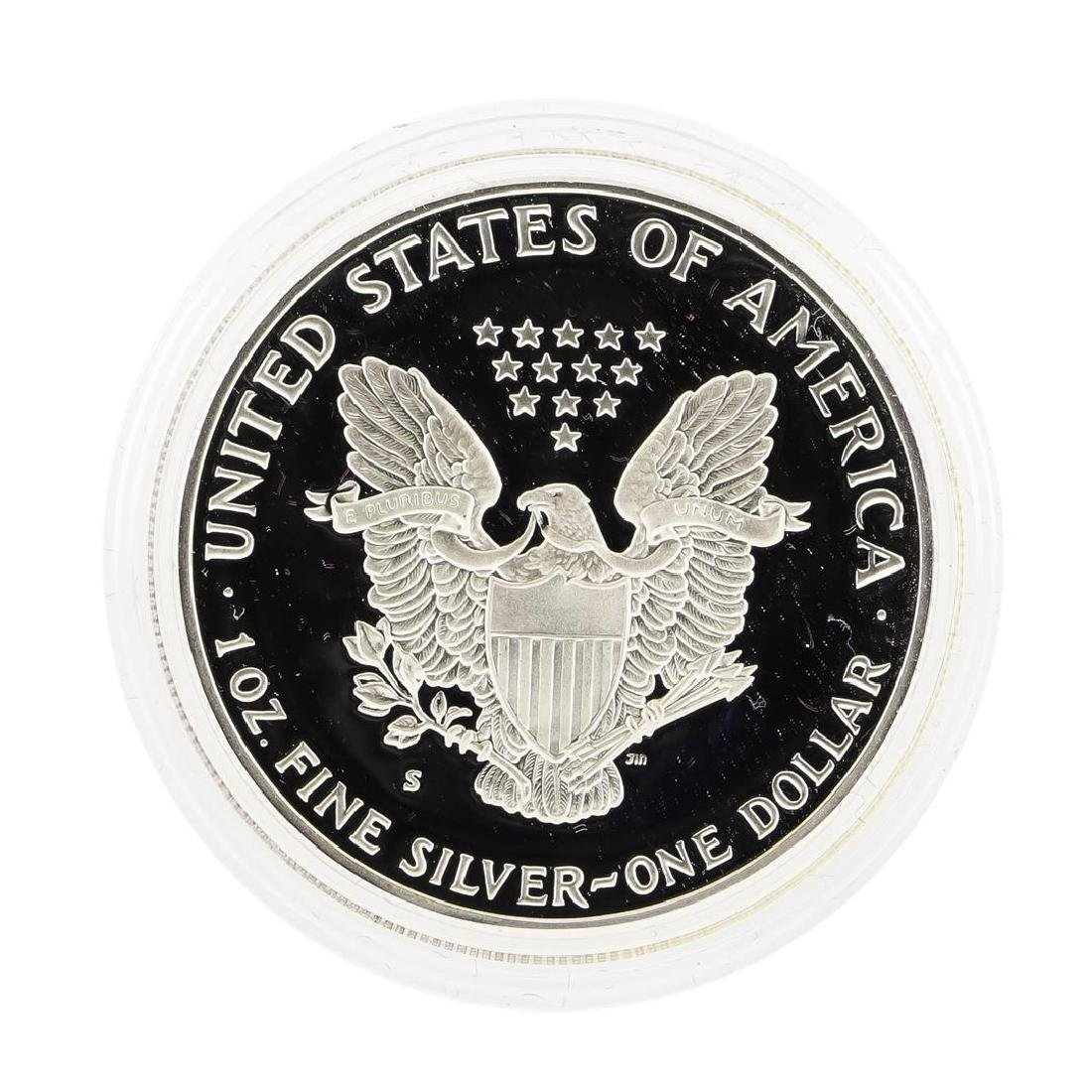 1988 1oz American Silver Eagle Proof Coin with Box - 2