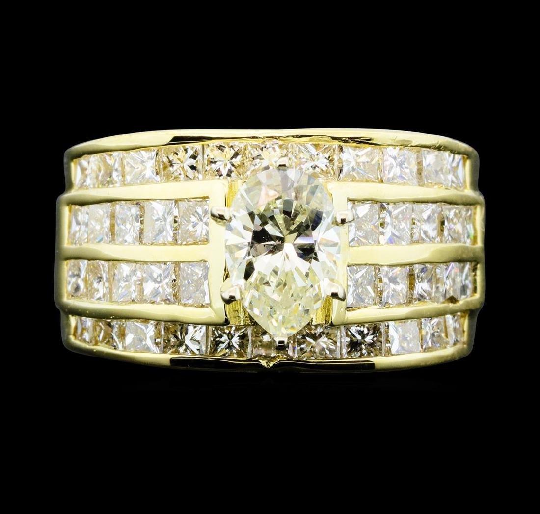 14KT Yellow Gold 3.50ctw Diamond Ring