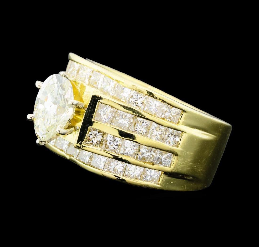 14KT Yellow Gold 3.50ctw Diamond Ring - 2