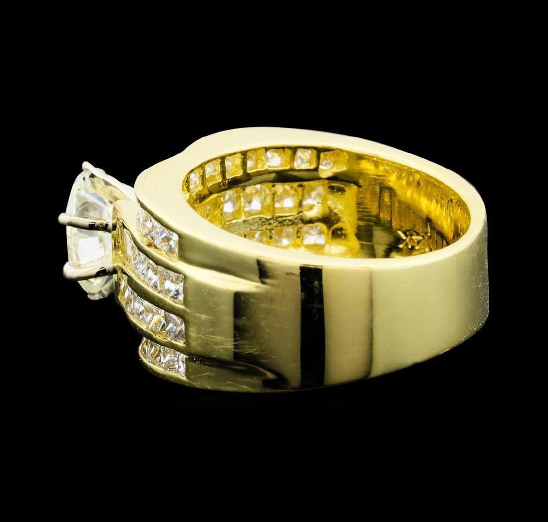 14KT Yellow Gold 3.50ctw Diamond Ring - 3