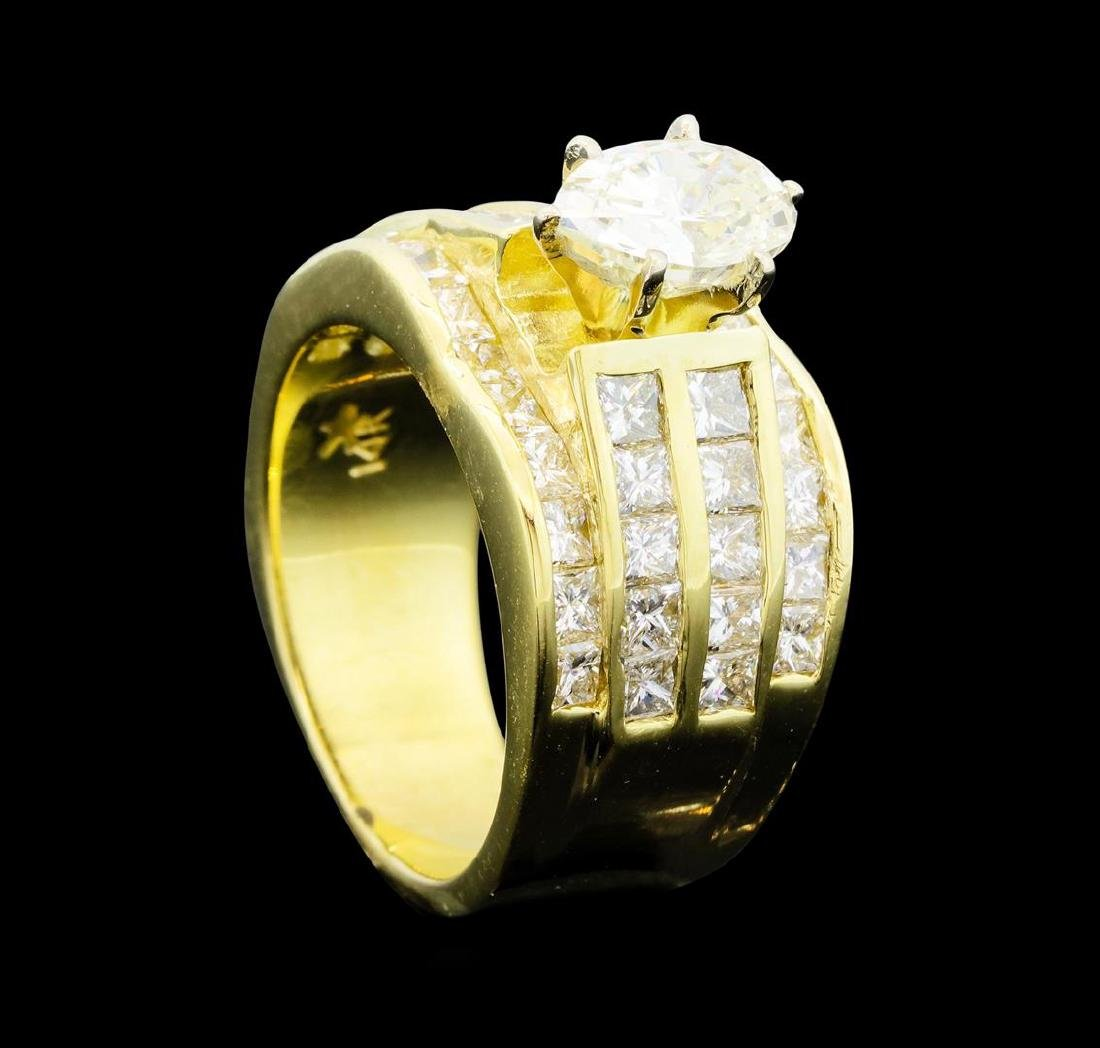 14KT Yellow Gold 3.50ctw Diamond Ring - 4