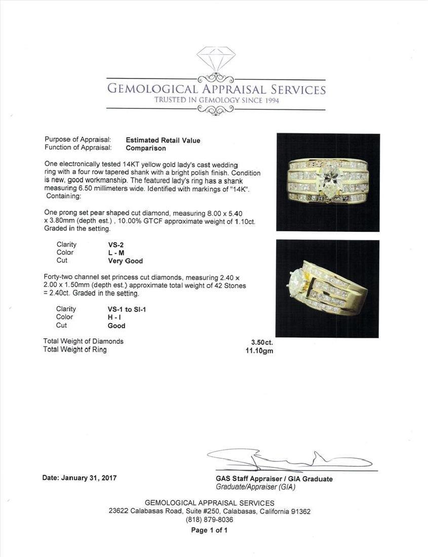 14KT Yellow Gold 3.50ctw Diamond Ring - 5