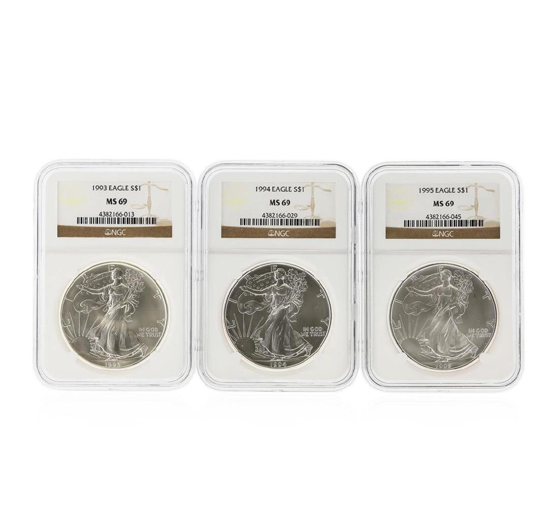 1993-1998 $1 American Silver Eagle Coin Set NGC MS69