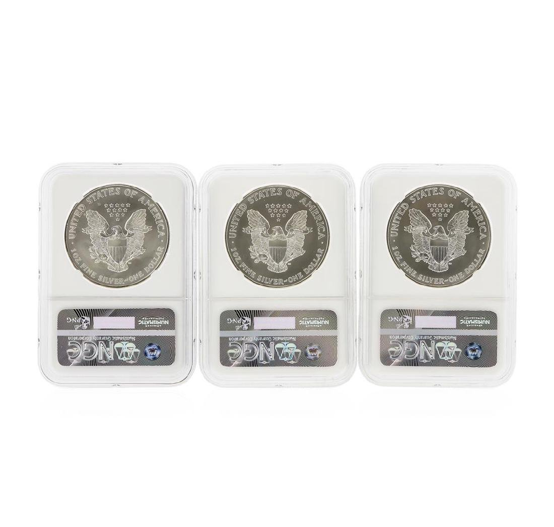 1993-1998 $1 American Silver Eagle Coin Set NGC MS69 - 4