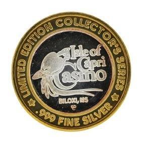 .999 Fine Silver Isle of Capri Casino Biloxi, MS $10