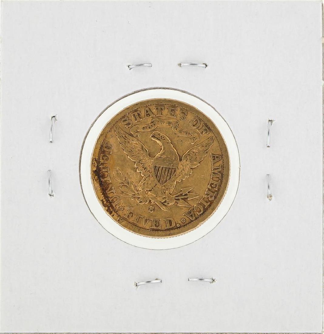 1884-S $5 Liberty Head Half Eagle Gold Coin - 2