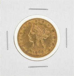 1899 $10 Liberty Head Gold Eagle Gold Coin