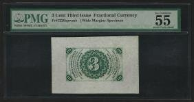 3 Cent Third Issue Fractional Currency Note Wide