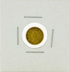 1853-O $1 Liberty Head Dollar Gold Coin