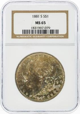 1881-S $1 Morgan Silver Dollar NGC Graded MS65