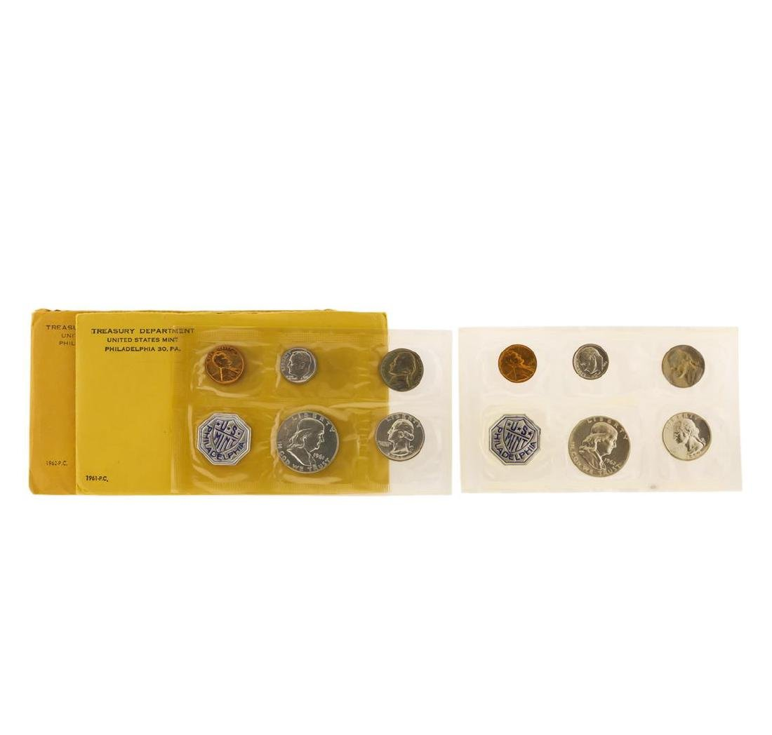 1961-1962 Proof (5) Coin Sets