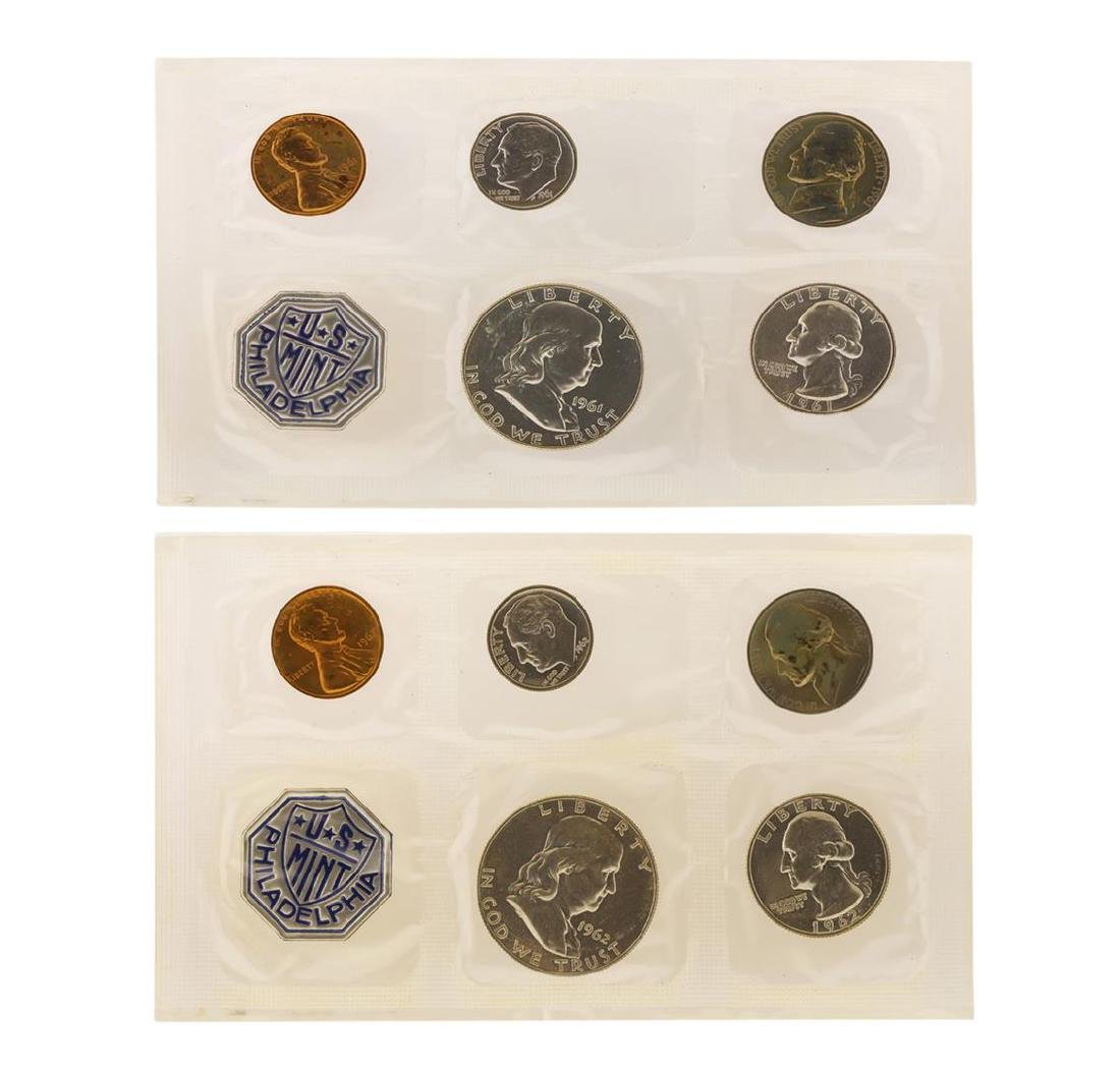 1961-1962 Proof (5) Coin Sets - 2