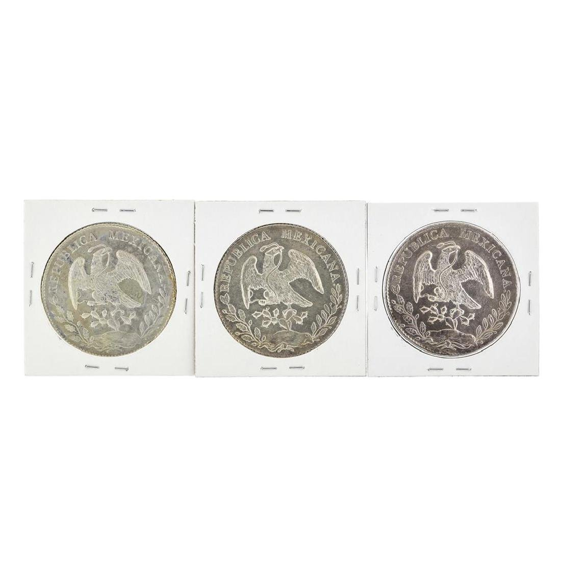 Set of (3) Mexico 8 Reales Silver Coins - 2