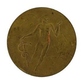 1922 Argentina Medical Medal with Skull