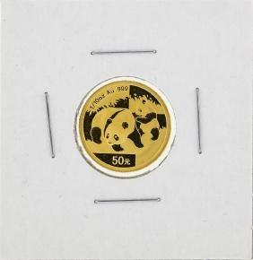2008 China 1/10 oz 50 Yuan Gold Panda Coin