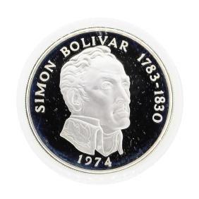 1974 Simon Bolivar Panama 20 Balboas Coin