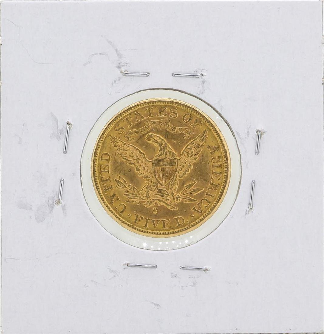 1887-S $5 Liberty Head Half Eagle Gold Coin - 2