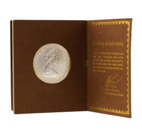 1976 20 Victoria Crowns Turks and Caicos Islands Silver