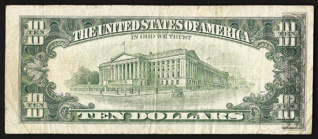 1988A $10 Federal Reserve Note ERROR Partial Offset