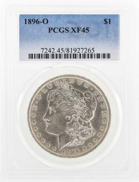 1896-O $1 Morgan Silver Dollar Coin PCGS XF45
